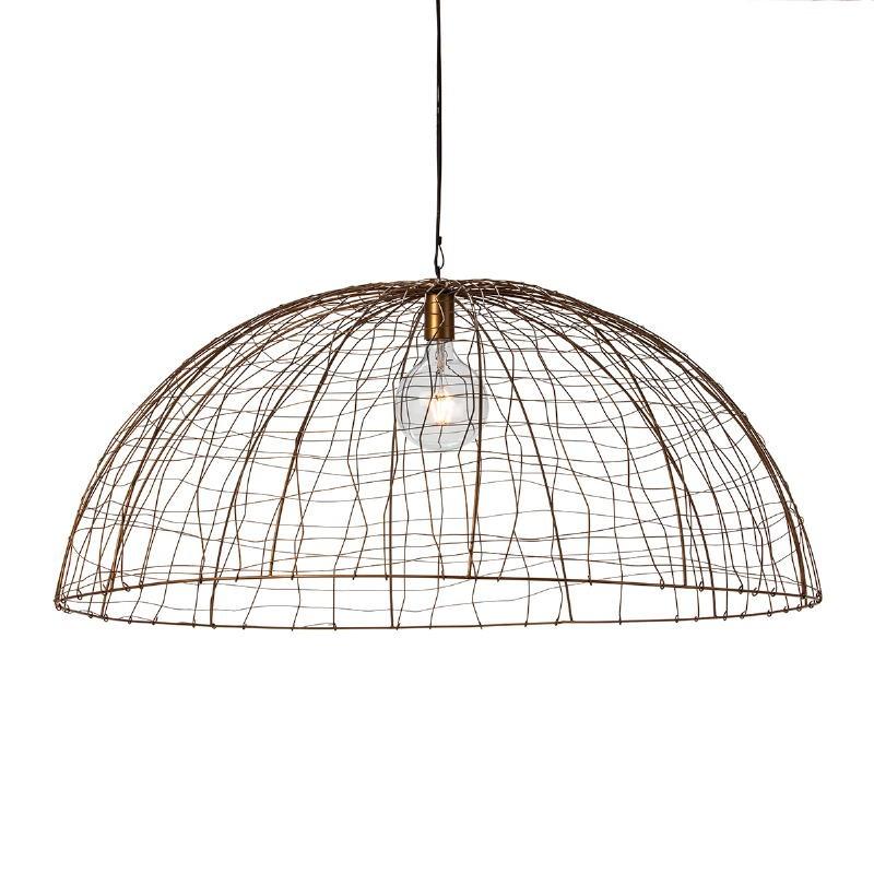Lampe suspendue 100x100x40 Fil de fer Doré