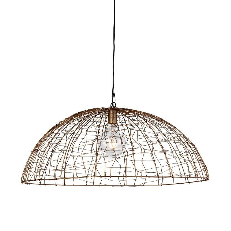 Lampe suspendue 80x80x32 Fil de fer Doré
