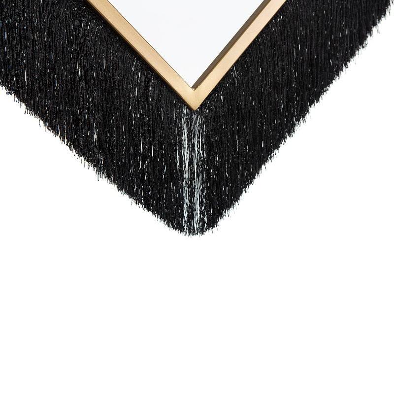 Hanging Lamp 57X20X80 Glass Metal Golden Fabric Black - image 52627
