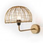 Wandlampen 23X37X25 Draht/Metall Golden
