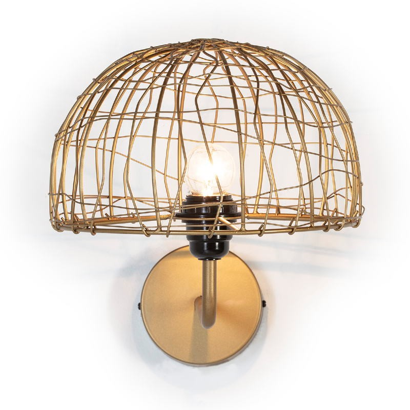 Wall Lamp 23X37X25 Wire Metal Golden - image 52631