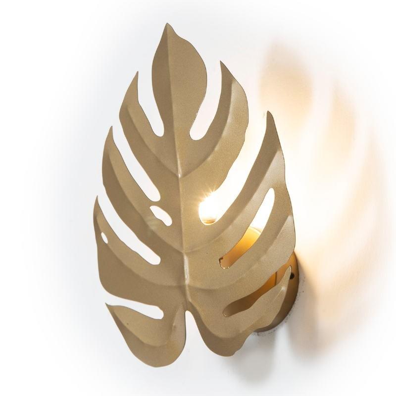 Wall Lamp 27X12X35 Metal Golden