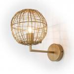 Wandlampen 20X32X29 Draht/Metall Golden