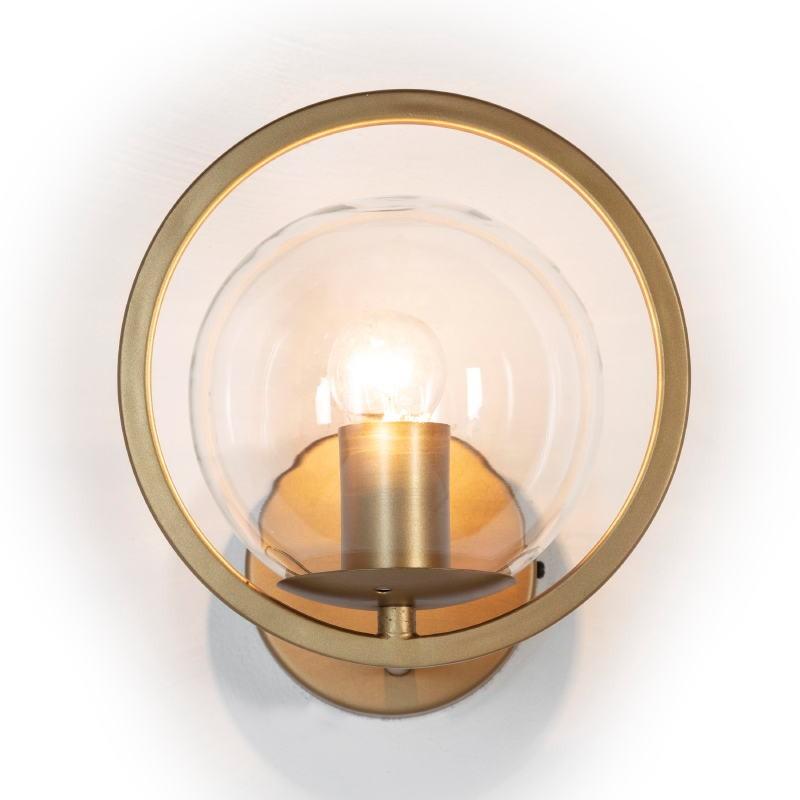 Wall Lamp 21X23X22 Glass Metal Golden - image 52649