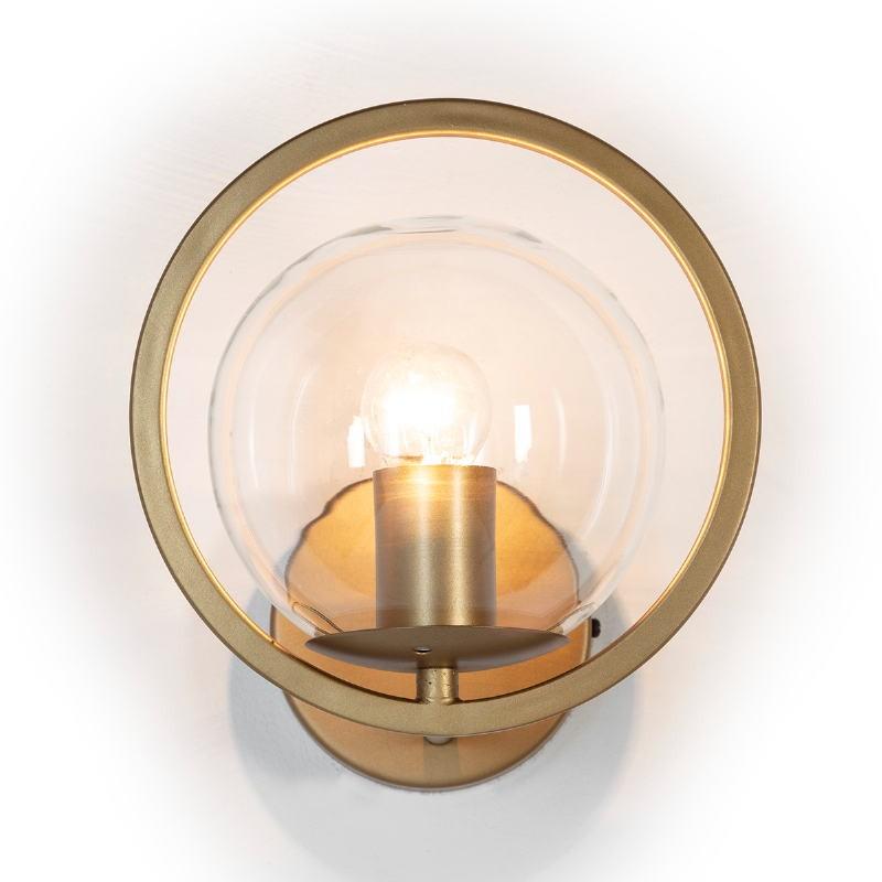 Wall Lamp 21X23X22 Glass Metal Golden - image 52651