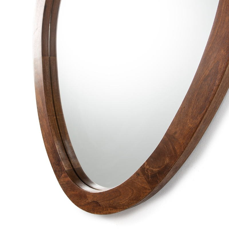 Mirror 106X4X76 Glass Wood Brown - image 52731