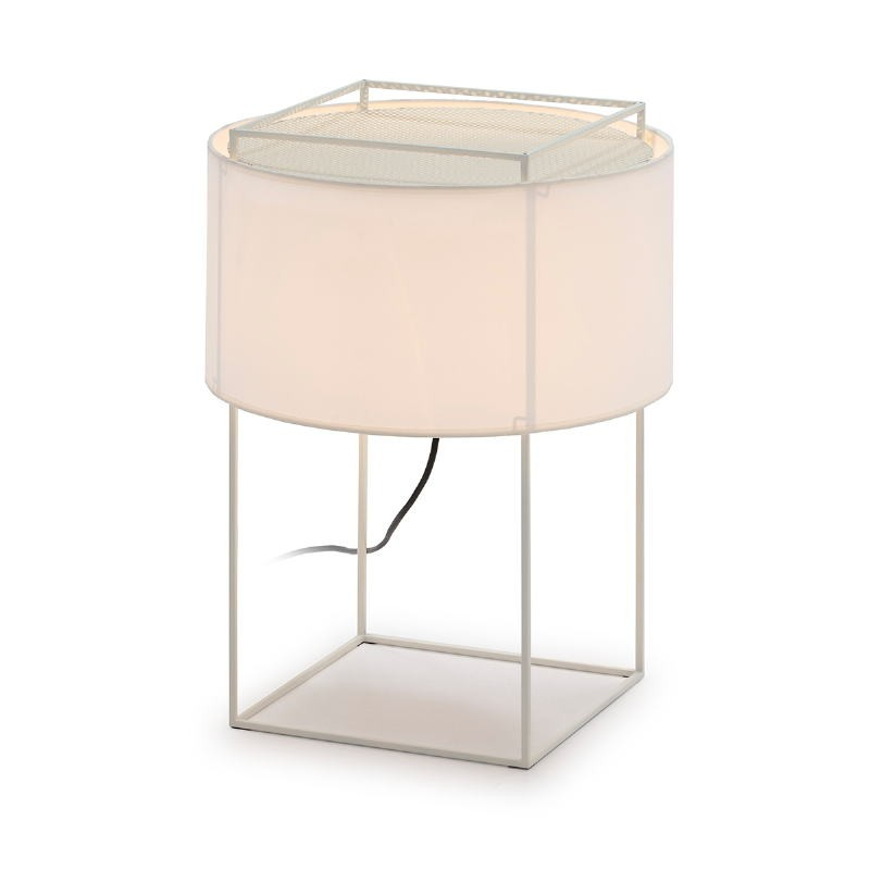 Table Lamp With Lampshade 36X36X48 Metal White
