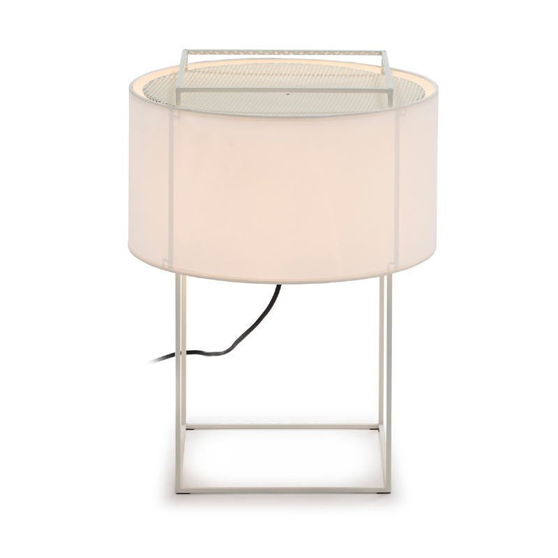 Table Lamp With Lampshade 36X36X48 Metal White - image 52738