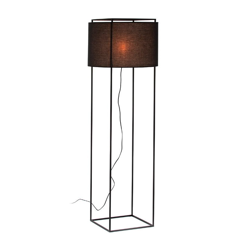 Lámpara De Pié Con Pantalla 55X55X165 Metal Negro - image 52739