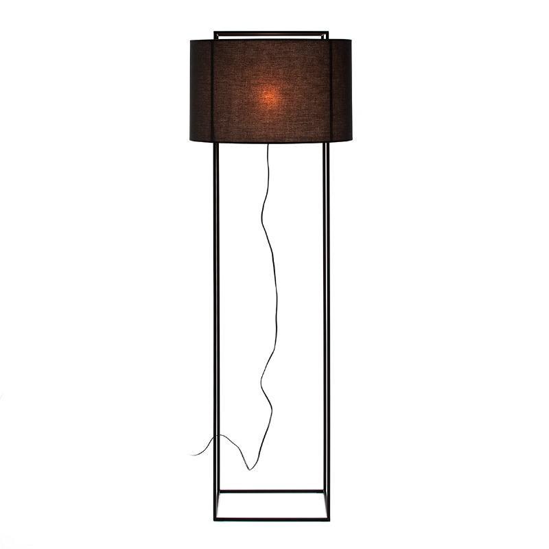Lampadaire avec abat-jour 55x55x165 Métal Noir - image 52741
