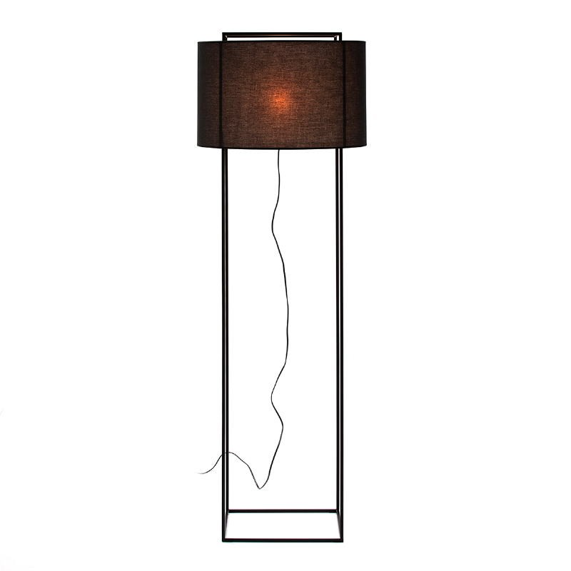 Standard Lamp With Lampshade 55X55X165 Metal Black - image 52741