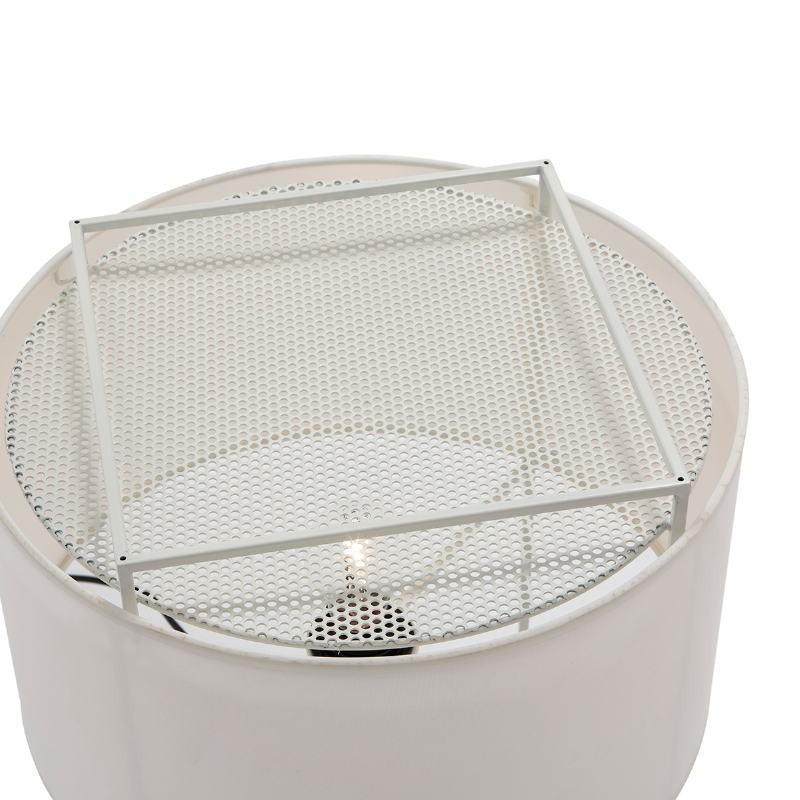 Lámpara De Pié Con Pantalla 55X55X165 Metal Blanco - image 52743