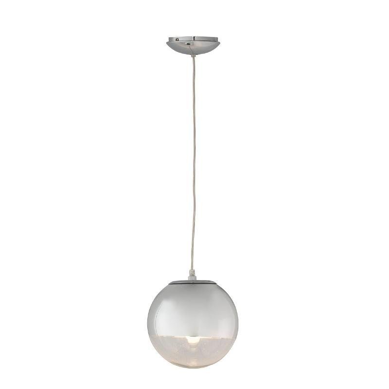 Lampe suspendue 20x20x20 Verre Métal Argent - image 52745