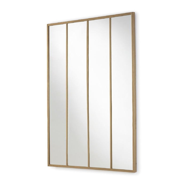 Mirror 100X3X150 Glass Metal Golden