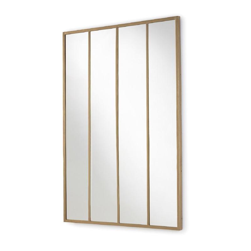 Spiegel 100X3X150 Glas / Metall Golden