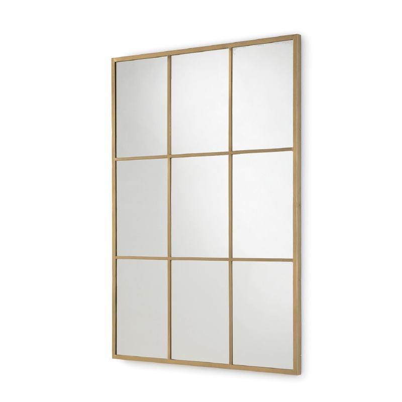 Spiegel 102X3X147 Glas / Metall Golden
