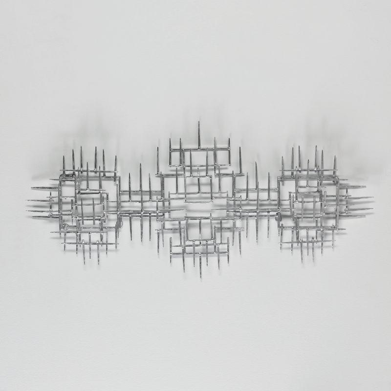 Scultura 120X6X60 Metallo Argento - image 52899