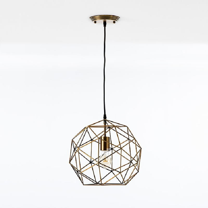 Hanging Lamp With Lampshade 32X30 Metal Golden - image 52902