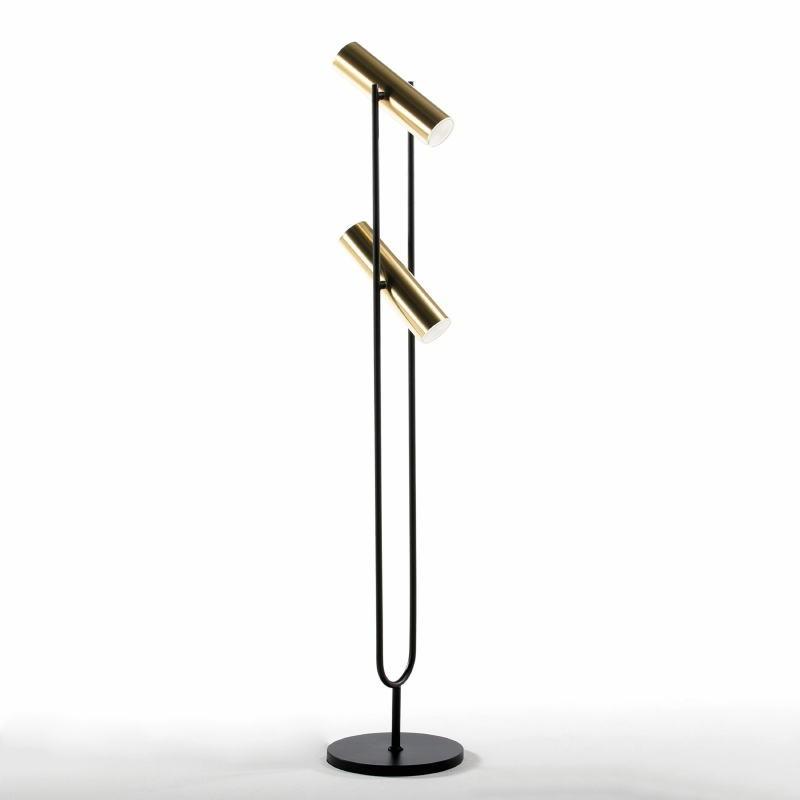 Lampada A Stelo Con Paralume 22X120 Metallo Oro Nero - image 52925