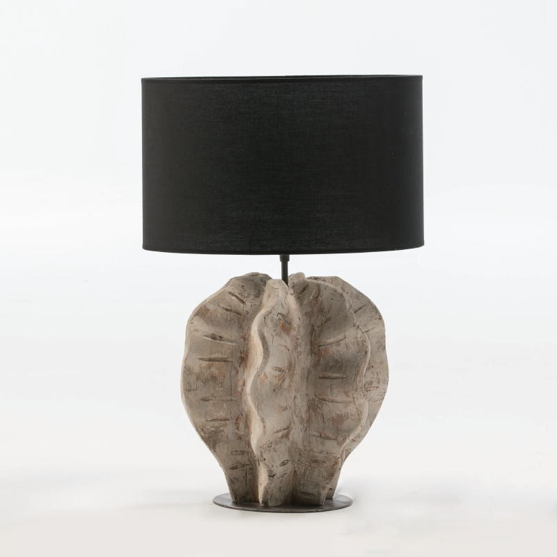Table Lamp Without Lampshade 30X28X42 Metal Wood White Washed - image 52939