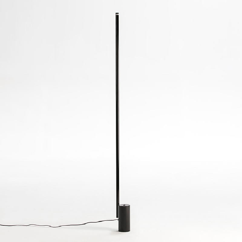 Standard Lamp Without Lampshade 12X10X186 Metal Black Led 25W