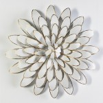 Skulptur 80X12X80 Metall Weiß/Golden