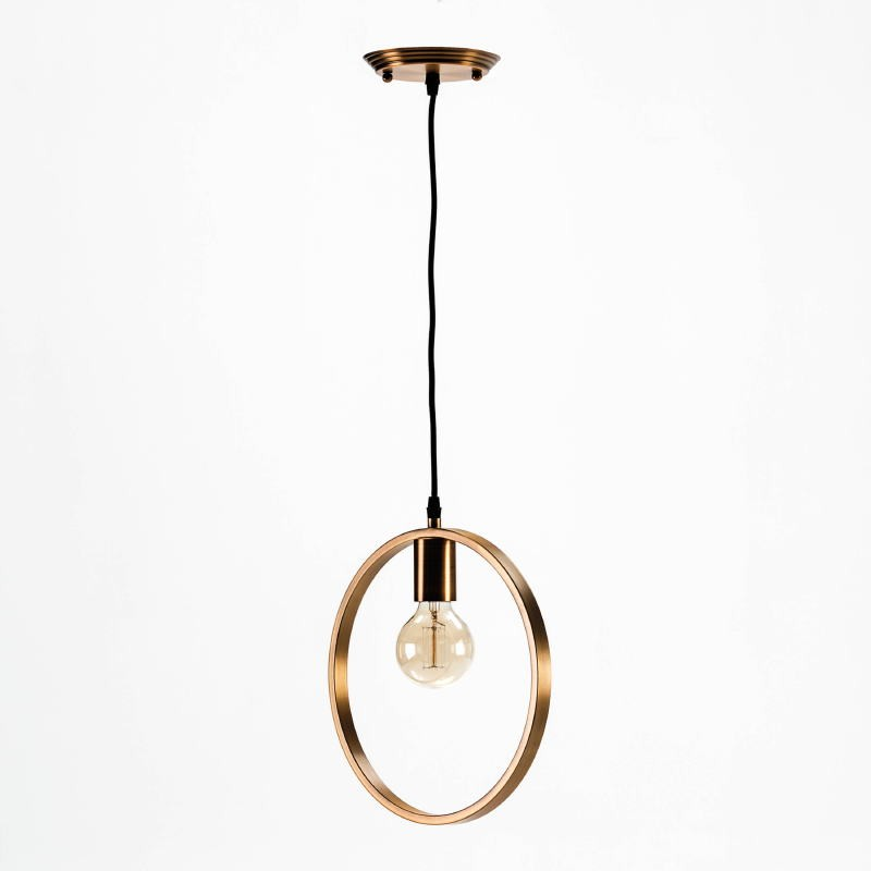 Hanging Lamp Without Lampshade 30X4X31 Metal Golden - image 53024
