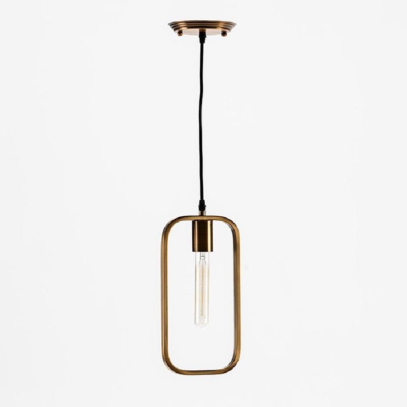 Lampe suspendue sans abat-jour 16x4x33 Métal Doré - image 53025