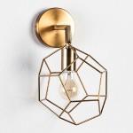 Wall Lamp 23X23X36 Metal Golden
