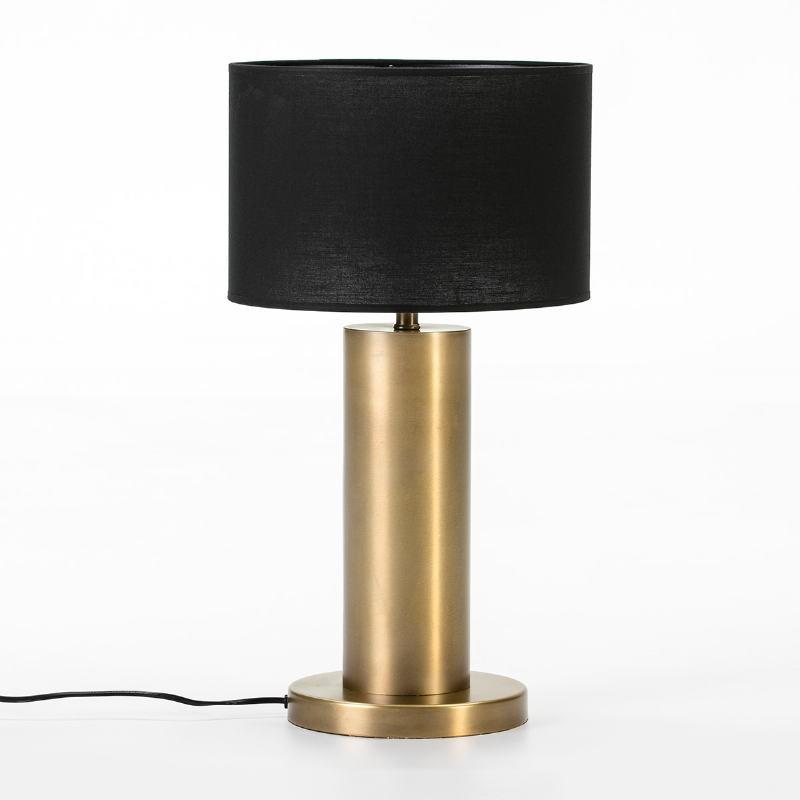 Lampe de Table sans abat-jour 20x20x40 Métal Doré - image 53033