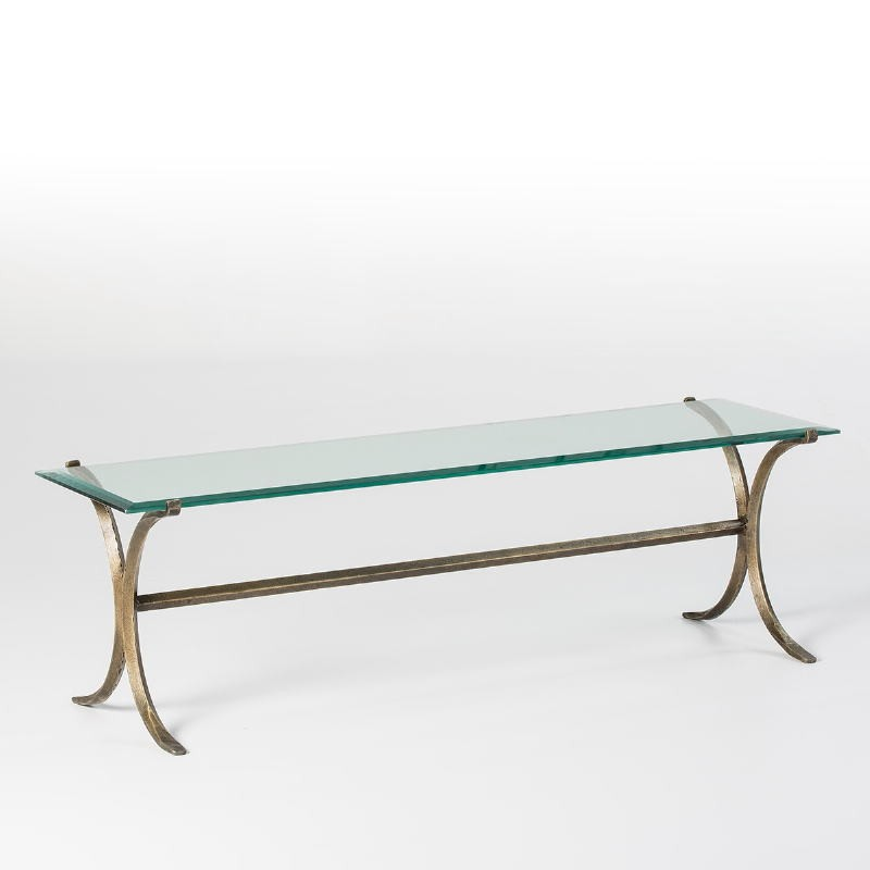 Tv Furniture 130X40X40 Glass Wrought Iron Golden