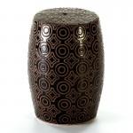 Sgabello 32X32X43 Ceramica Nero Crema