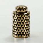 Tibor 18X18X31 Ceramica Dorato Nero