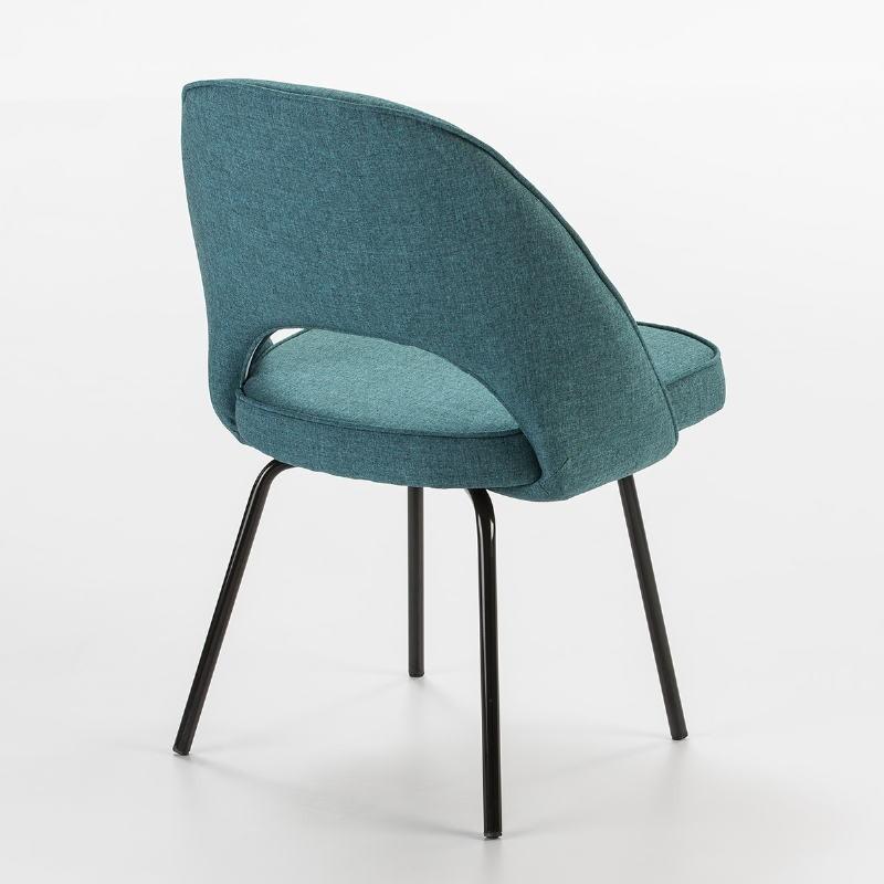 Chair 54X58X80 Metal Black Fabric White - image 53103