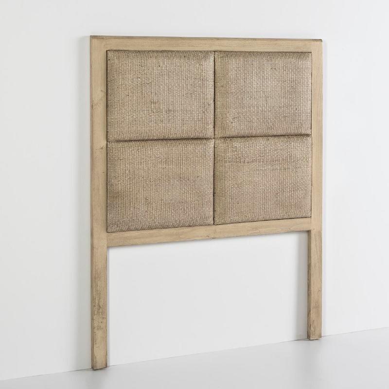 Headboard 110X9X137 Wood Beige - image 53107