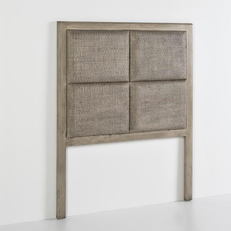 Kopfteil 110X9X137 Holz Verschleiertes Grau