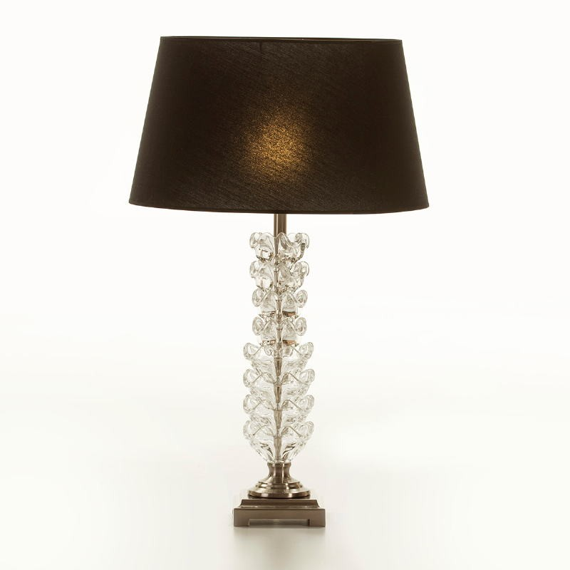 Table Lamp Without Lampshade 15X15X58 Metal Glass Transparent