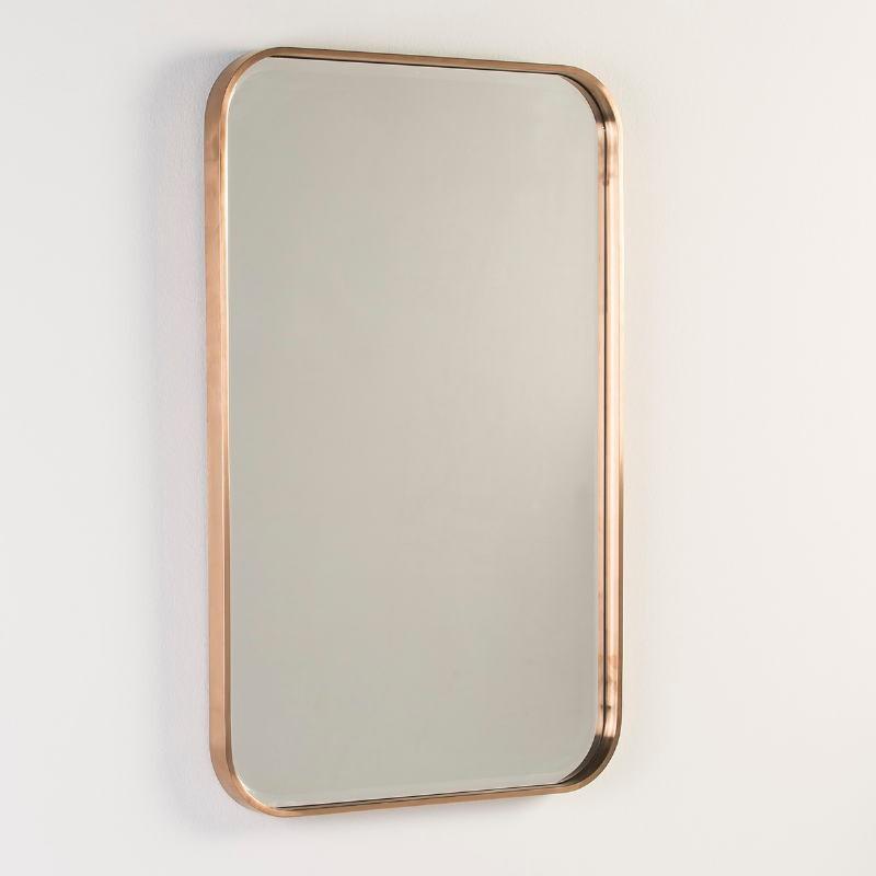 Miroir 65x4x100 Verre Métal Couleur Bronze