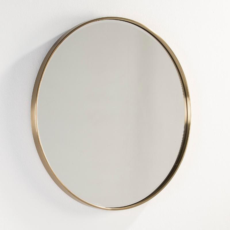 Miroir 90x4x90 Verre Métal Doré