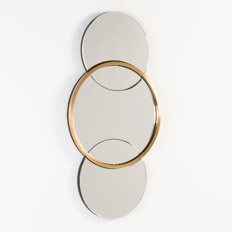 Miroir 60x4x117 Verre Métal Doré - image 53114
