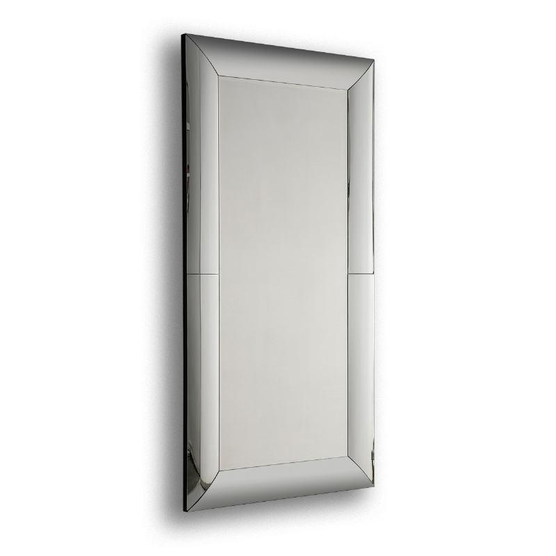 Specchio 101X5X201 Vetro Mdf Nero