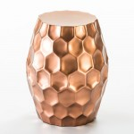 Stool 46X46X55 Metal Colour Copper