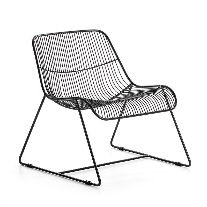 Chaise 62x67x69 Métal Noir