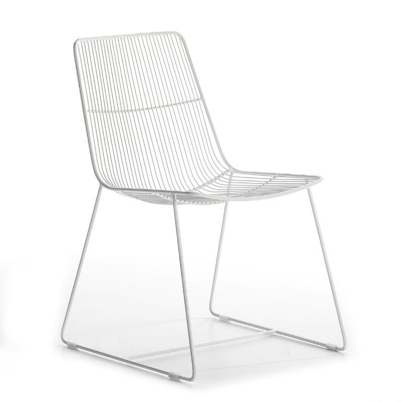 Chaise 55x59x83 Métal Blanc