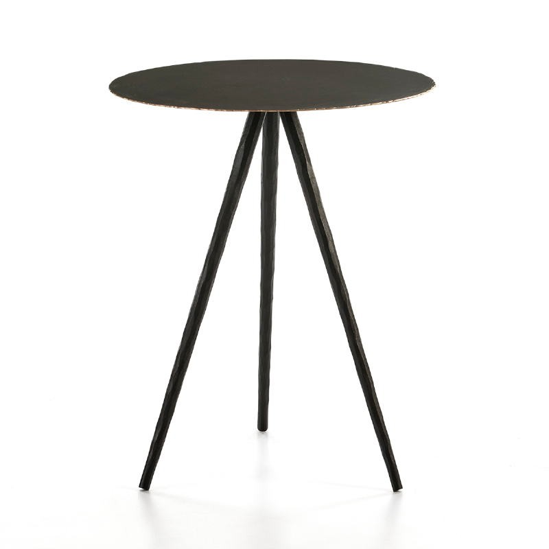 Side Table 46X46X57 Metal Black