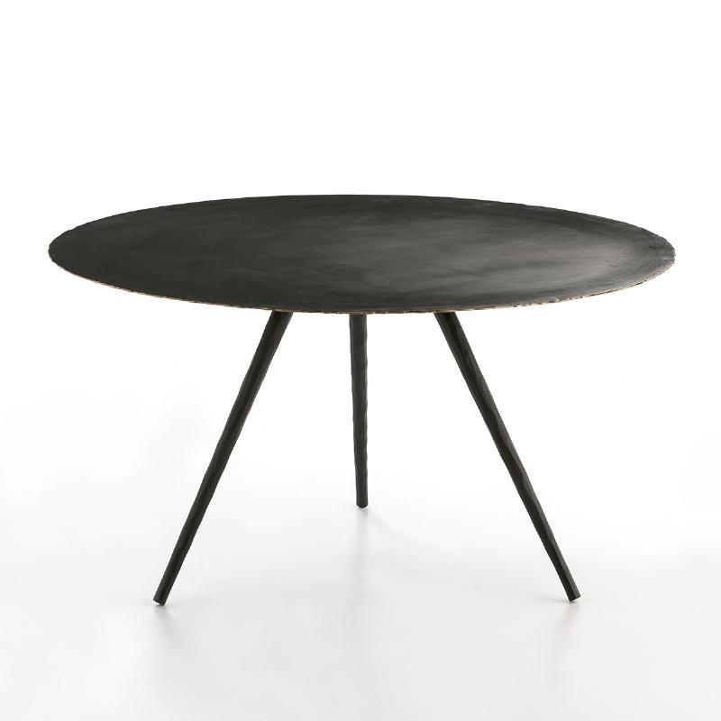 Table basse 77x77x40 Métal Noir