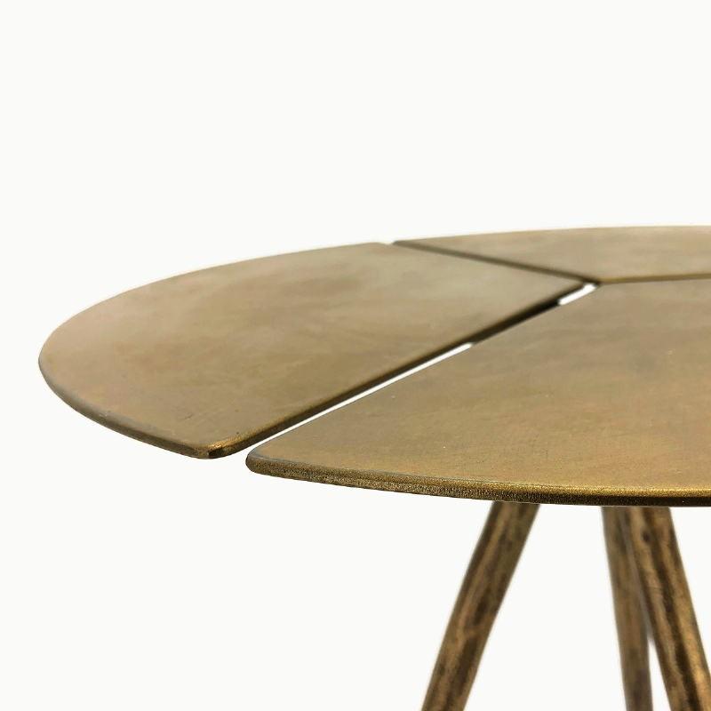 Table d'appoint, bout de canapé 40x40x57 Métal Doré - image 53229