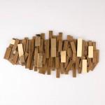 Skulptur 100X5X50 Metall Golden