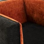 Fauteuil 102x95x70 tissu Orange