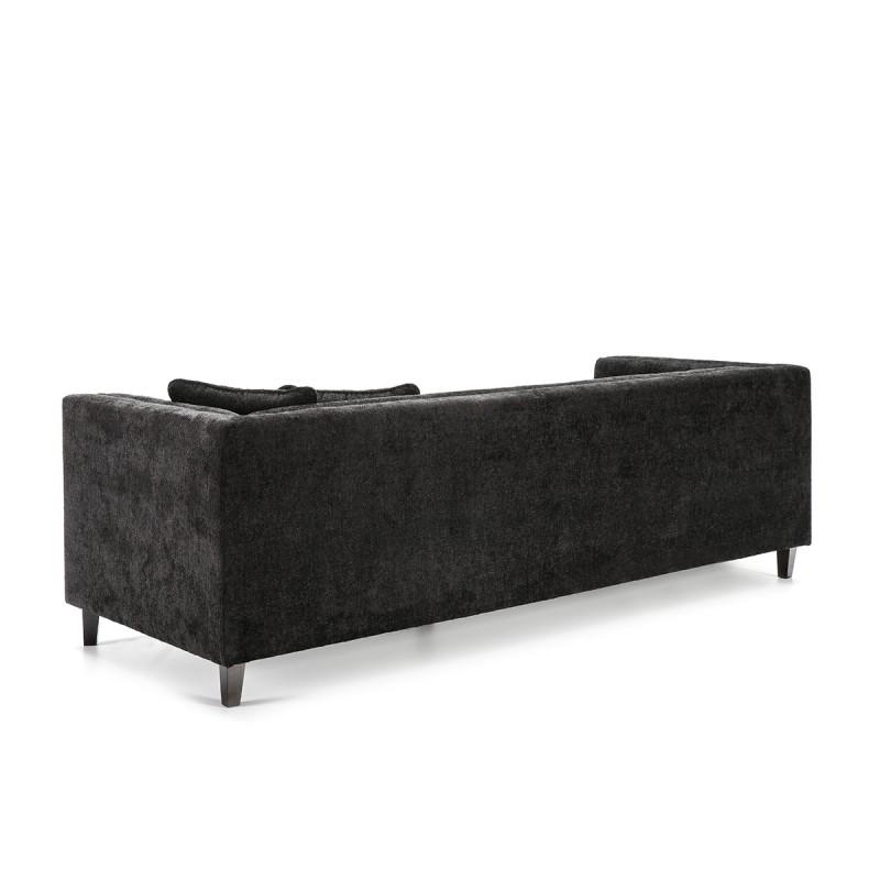 Sofa 4 Plätze 240X95X70 Schwarzer Stoff - image 53277